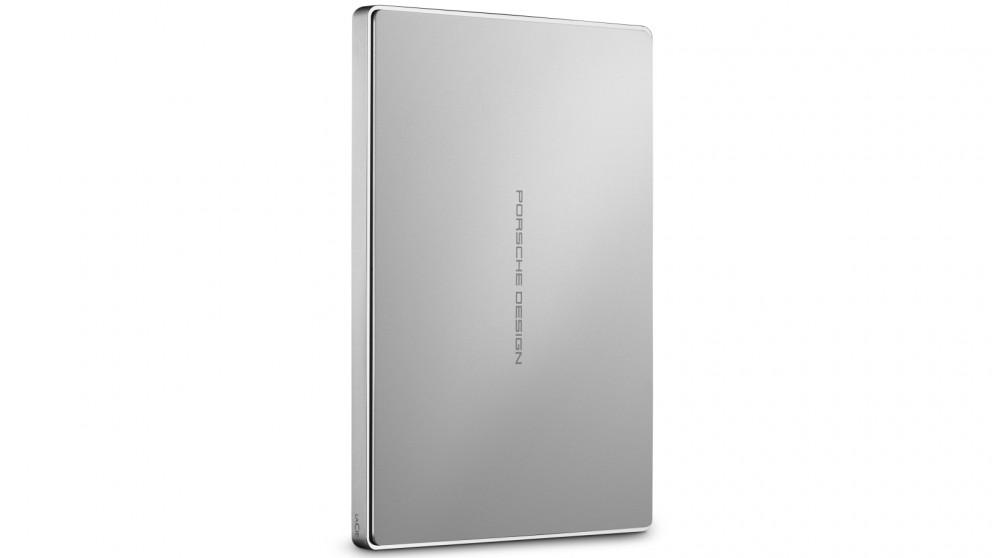LaCie 1TB 9227 Porsche Design USB-C Mobile Hard Drive - Silver