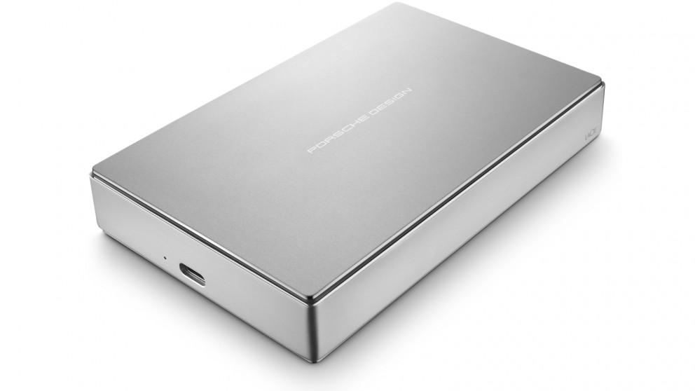 LaCie 4TB 9227 Porsche Design USB-C Mobile Hard Drive - Silver
