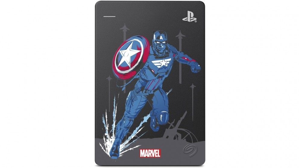Seagate 2TB Game Drive for PS4 - Marvel Avengers Captain America