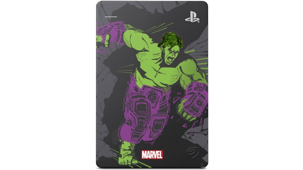 Seagate 2TB Game Drive for PS4 - Marvel Avengers Hulk