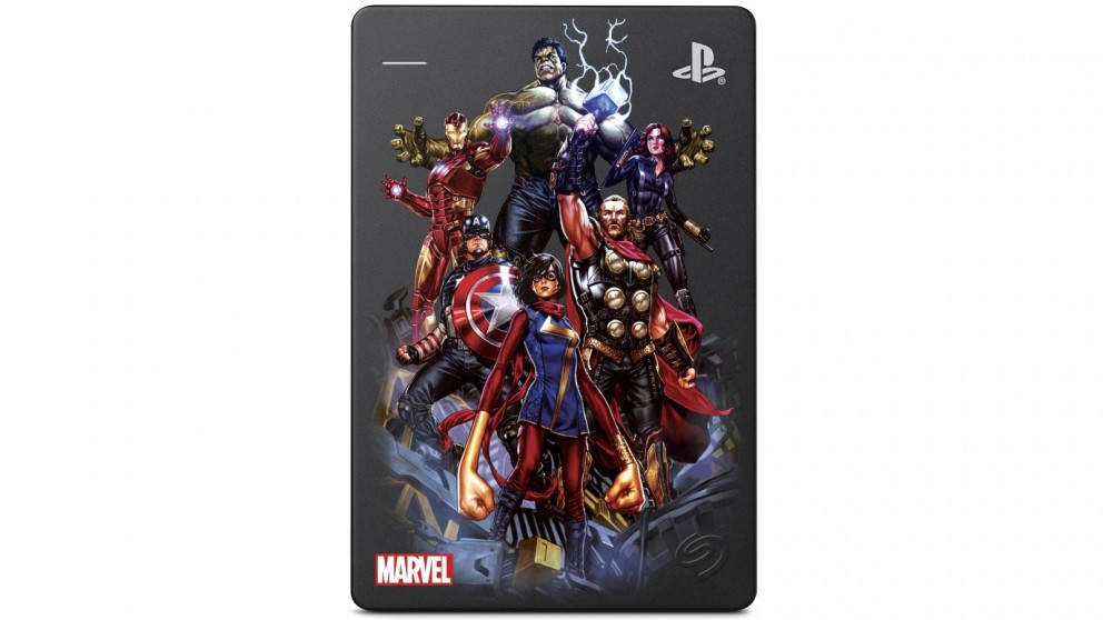 Seagate 2TB Game Drive for PS4 - Marvel Avengers Assembled