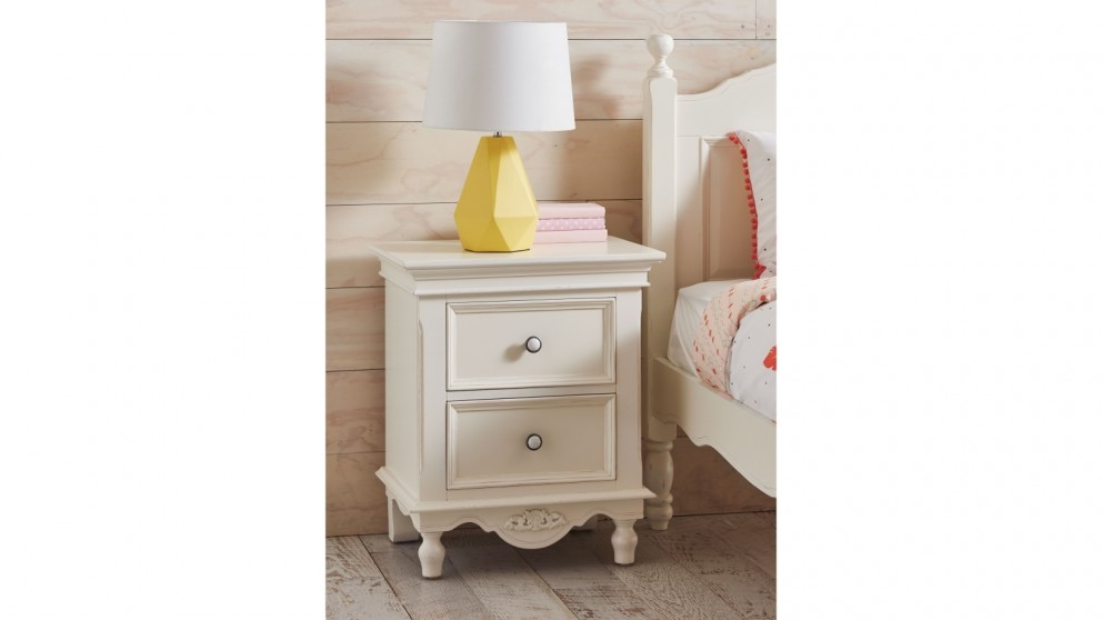 St Louis 2-Drawer Bedside Table