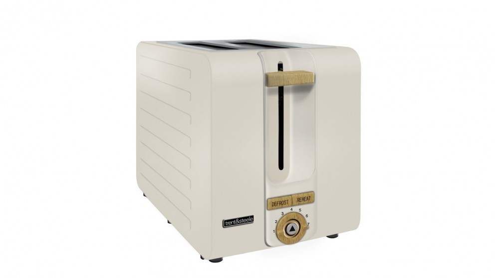 Trent and Steele Lagom Collection 2 Slice Toaster - Stone