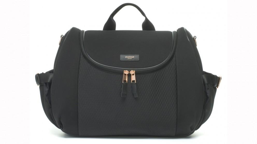 Storksak Poppy Luxe Nappy Bag - Black Scuba