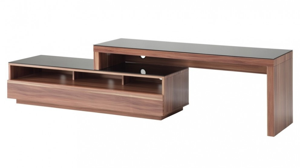 Tauris Stretch 1500 TV Stand - Walnut