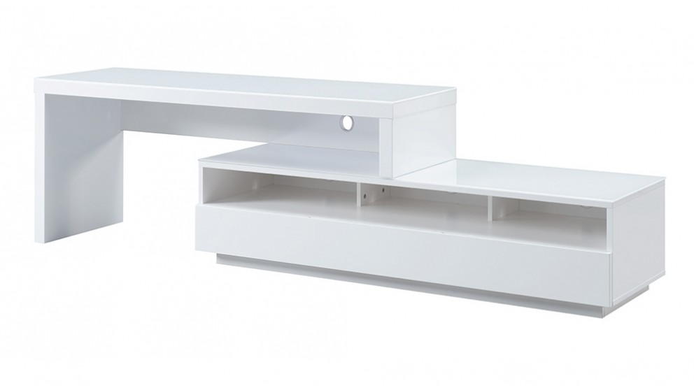 Tauris Stretch 1500mm TV Cabinet - White