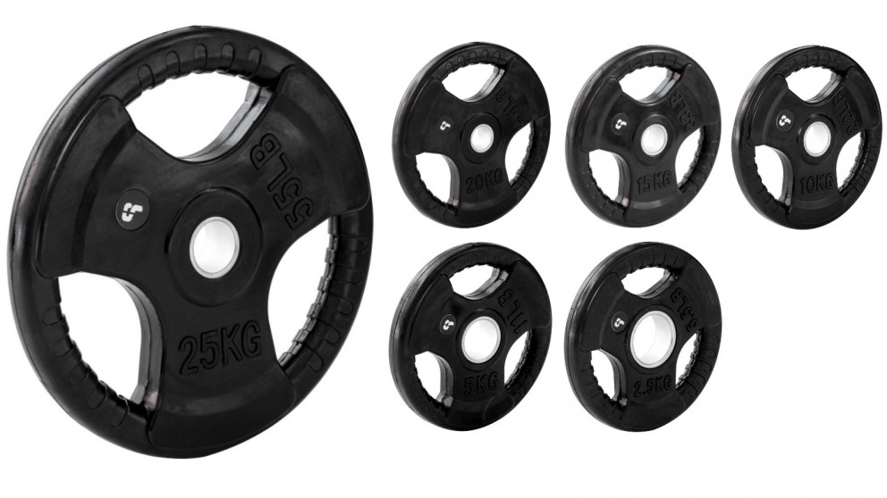 Sumo Strength Single Rubber Weight Plate with 3 Hand Grip