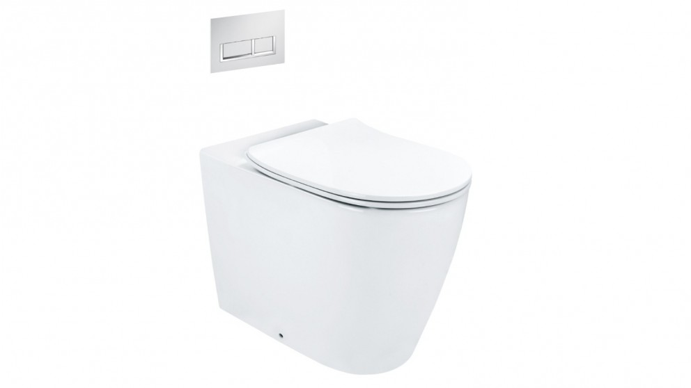 Arcisan Synergii Wall Faced Pan with In Wall Cistern and Xoni Chrome Flush Panel