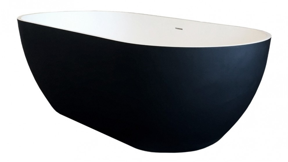 Arcisan Synergii 1700mm Solid Surface Freestanding Bath - Matte Black