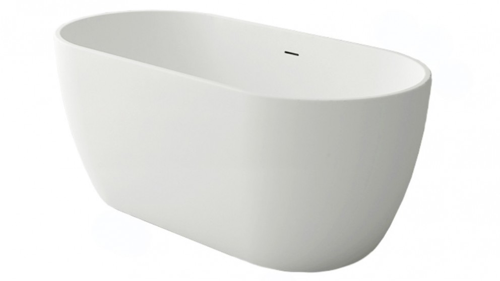 Arcisan Synergii 1700mm Solid Surface Freestanding Bath - Matte White