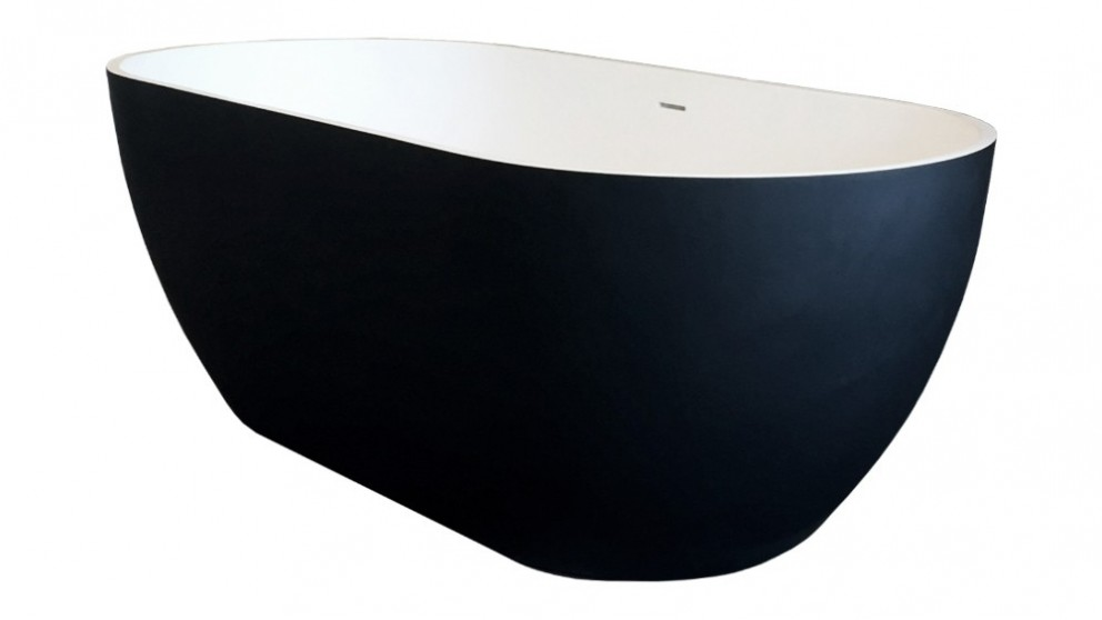 Arcisan Synergii 1500mm Solid Surface Freestanding Bath - Matte Black