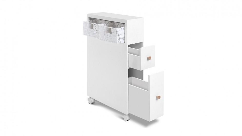 Bathroom Storage Toilet Caddy Holder - White