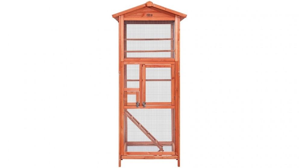 i.Pet Wooden Bird Cage