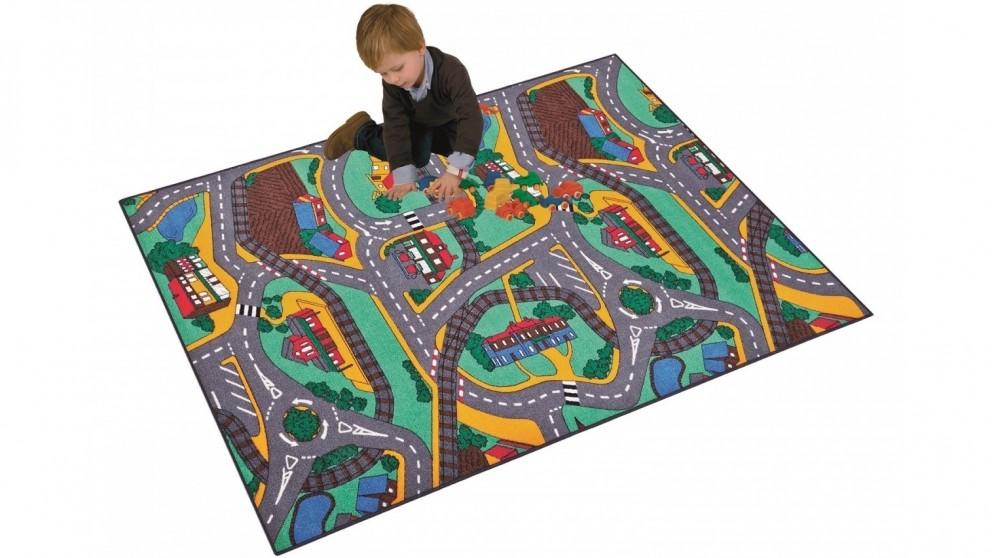 Plum Play 133cm x 95cm Street Carpet Play Mat