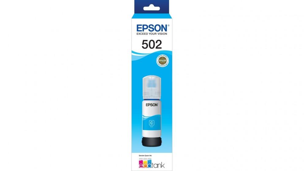 Epson T502 EcoTank Cyan Ink Bottle