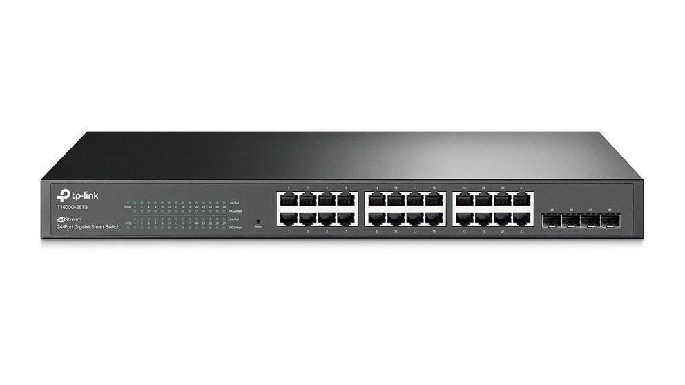 TP-Link JetStream 24-Port Gigabit Smart Switch with 4 SFP Slots