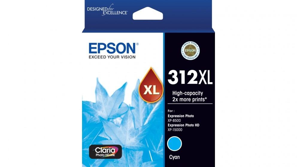 Epson 312XL Claria Photo HD Ink Cartridge - Cyan