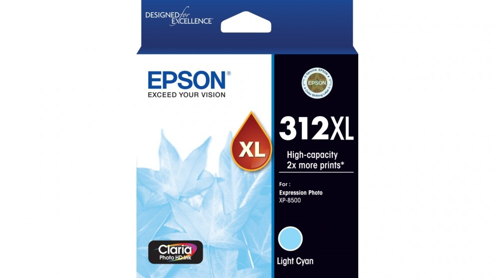 Epson 312XL Claria Photo HD Ink Cartridge - Light Cyan
