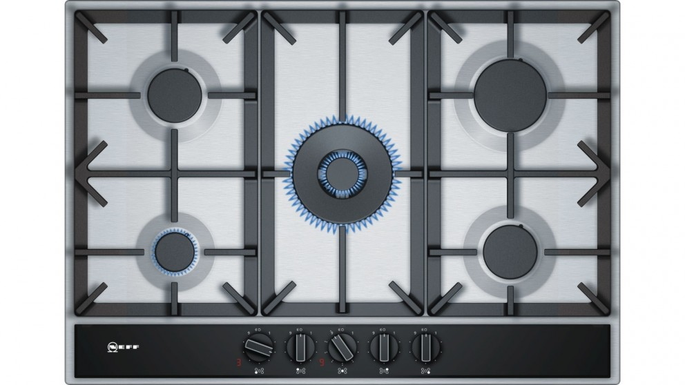 NEFF 75cm Integrated Gas Cooktop - Stainless Steel