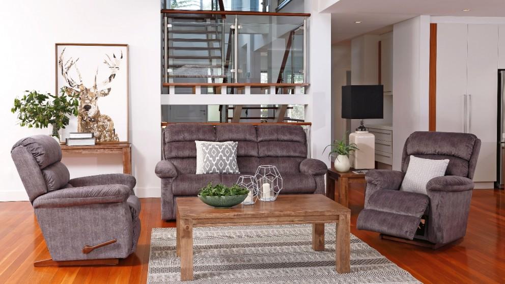 Rapids 3 Piece Fabric Recliner Lounge Suite