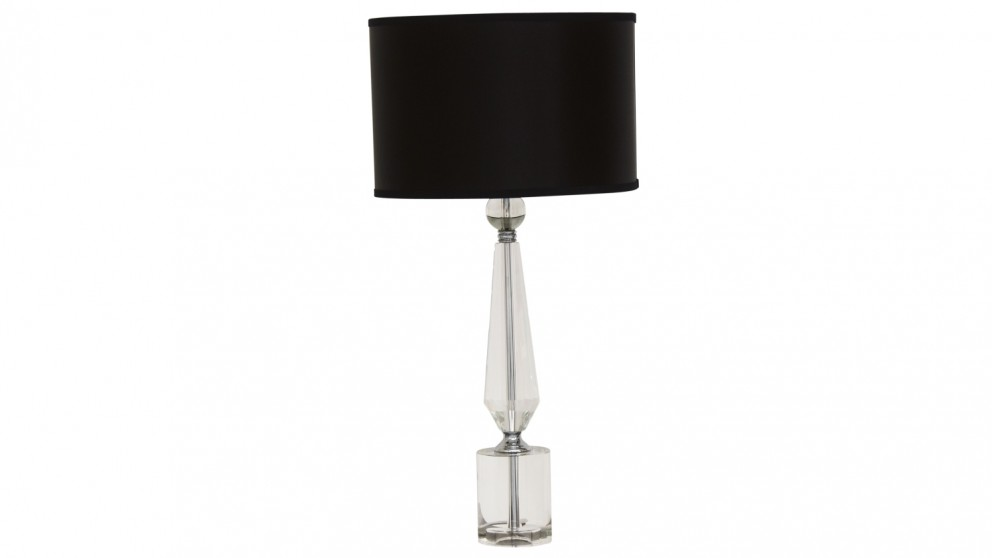 Ada black shade crystal table lamp