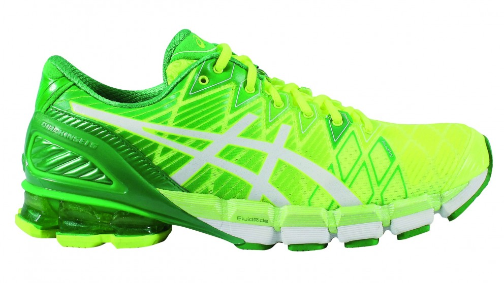 le dernier bcfd8 6df01 asics gel kinsei 5 mens shoes yellow/white/green