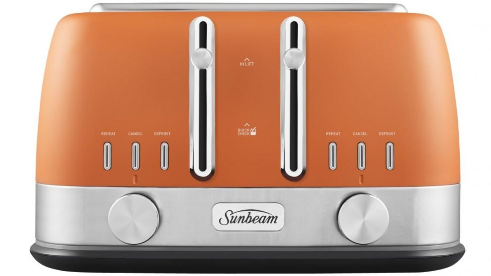 Sunbeam Tribeca 4 Slice Toaster - Terracotta