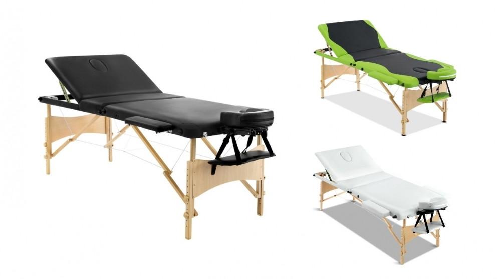 Zenses 75cm Portable Wooden 3 Fold Massage Table