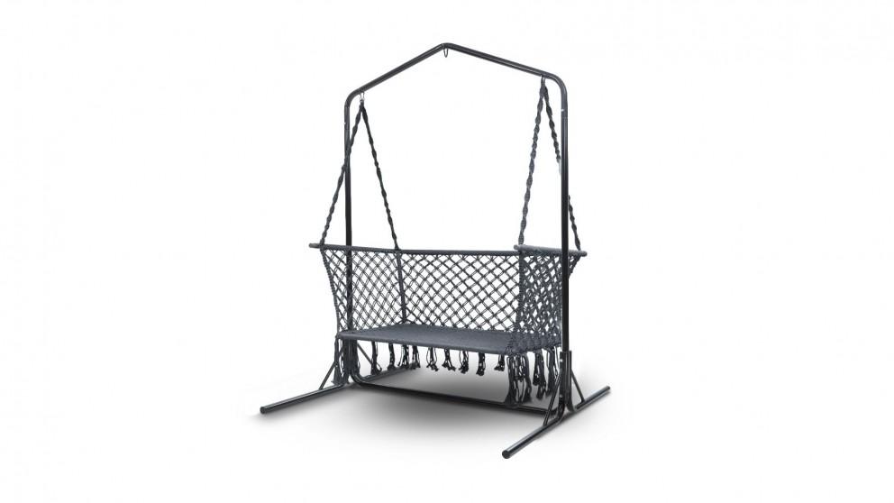 Buy Gardeon Double Swing Hammock Chair with Stand - Grey ...