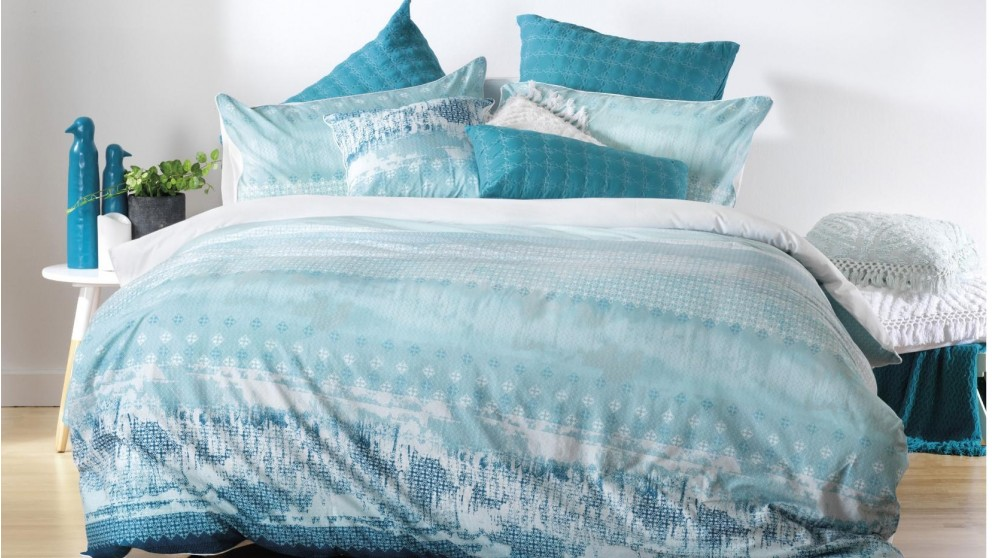 Tarquin Turquoise King Quilt Cover Set