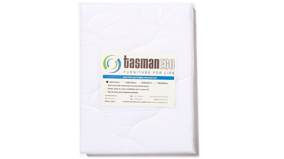 Tasman Eco Quilted Mattress Protector for Cot - 132 x 77cm