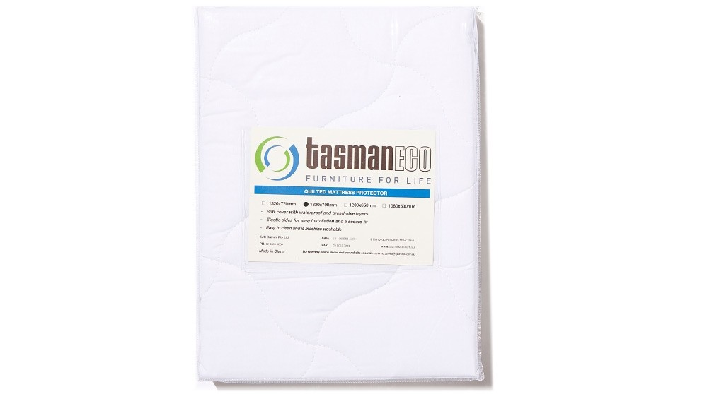 Tasman Eco Quilted Mattress Protector for Cot - 132 x 70cm