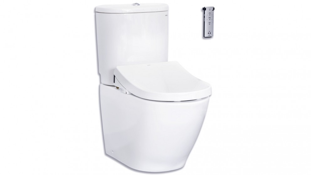 TOTO Basic+Toilet with Tornado Flush+D-Shape Washlet W/Remote Control-Package