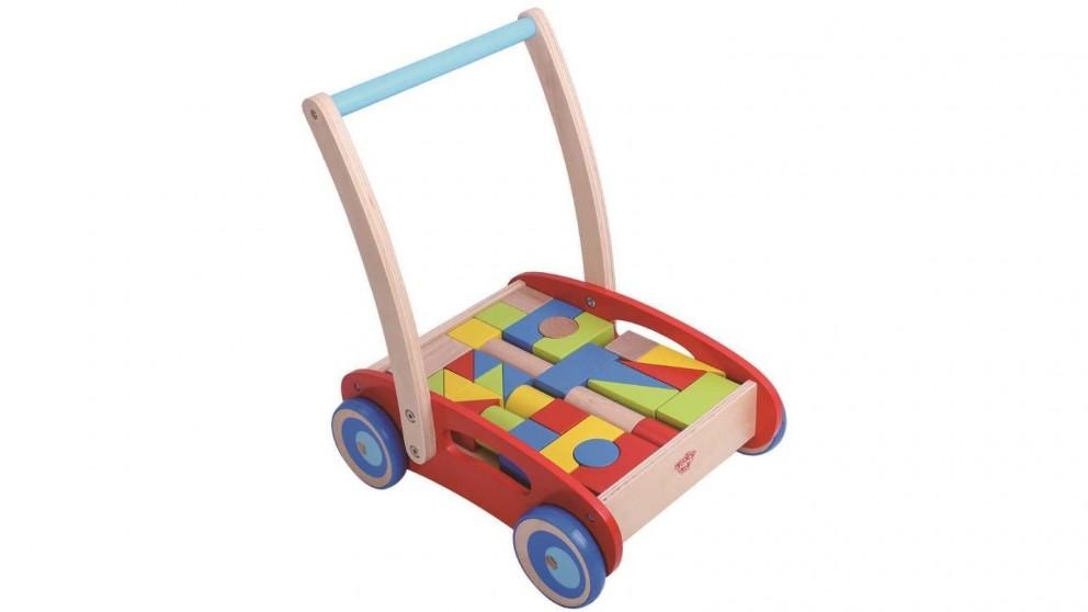 Tooky Toy Baby Walker with Blocks