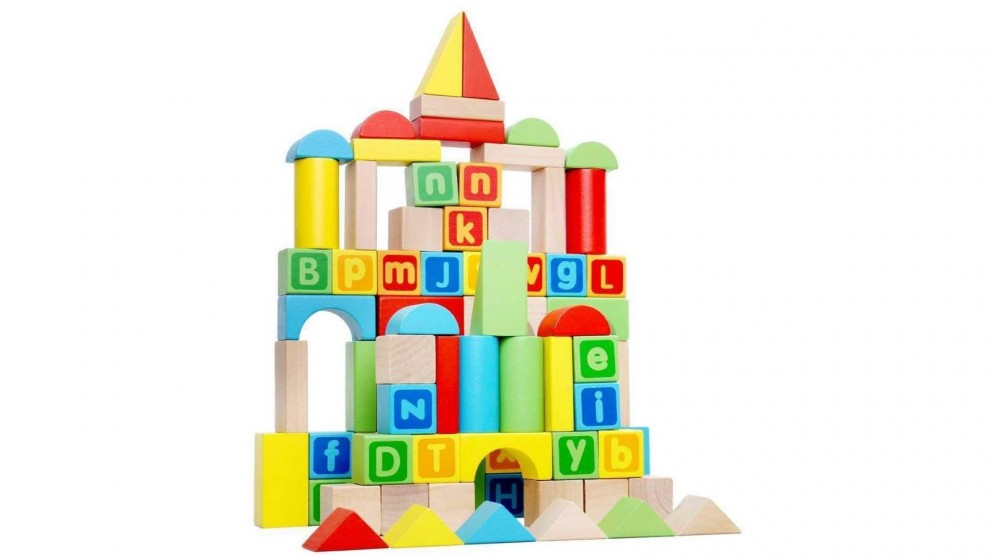 Tooky Toy Block Set 80 Pieces