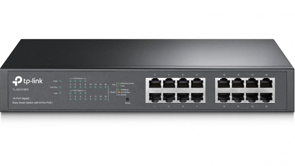 TP-Link 16-Port Gigabit Easy Smart PoE Switch with 8-Port PoE+