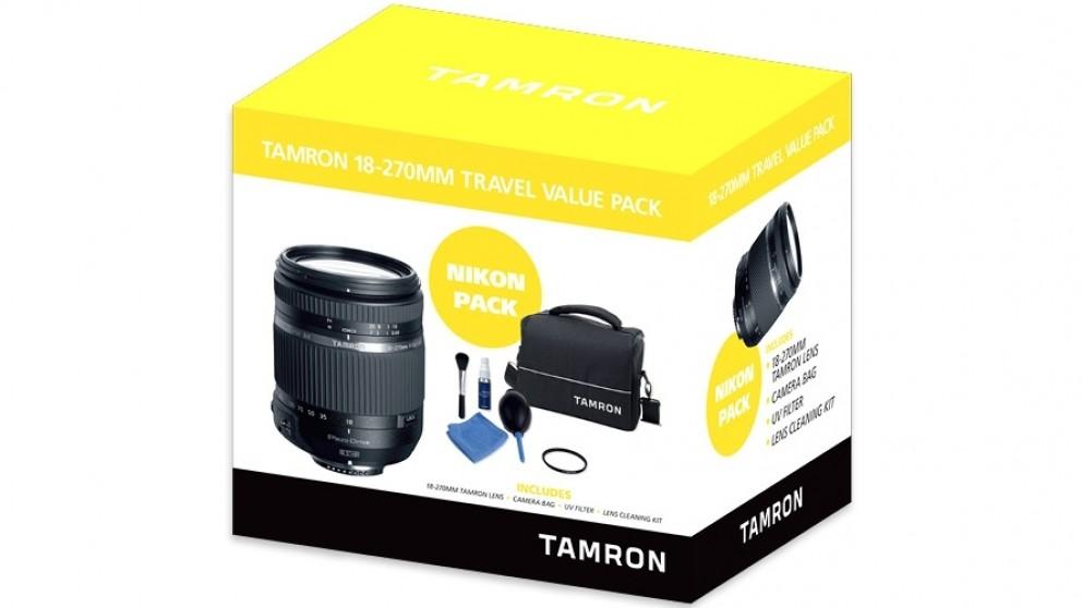 Tamron 18-270mm Travel Value Pack for Nikon AF-S