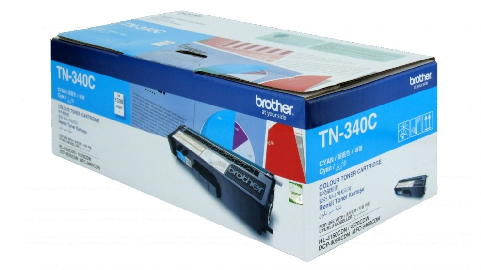 Brother TN-340 Toner Cartridge - Cyan