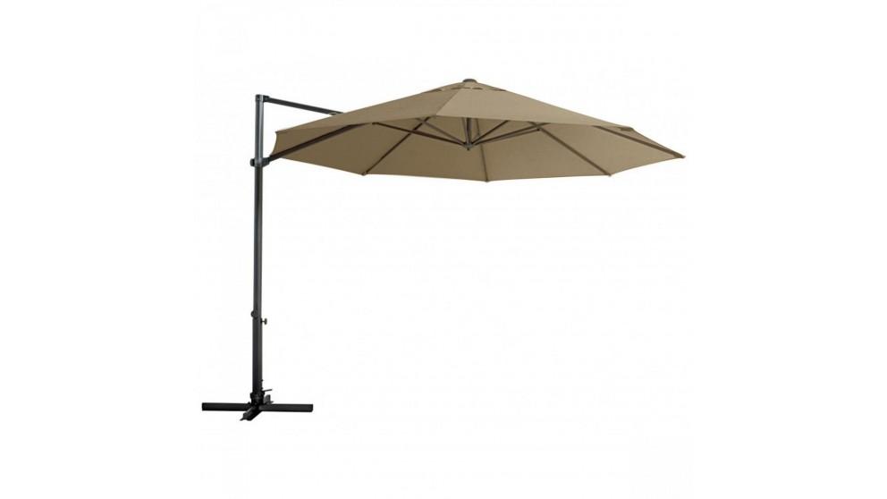 Pambula 3.3m Octagonal Cantilever Outdoor Umbrella - Toffee