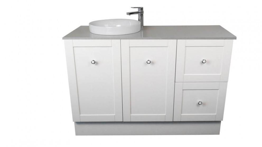 Vanity Bathroom Harvey Norman ledin hoxton 1200mm stone benchtop vanity - white - bathroom