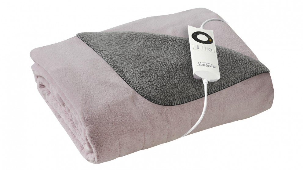 Sunbeam Feel Perfect Reversible Heated Throw