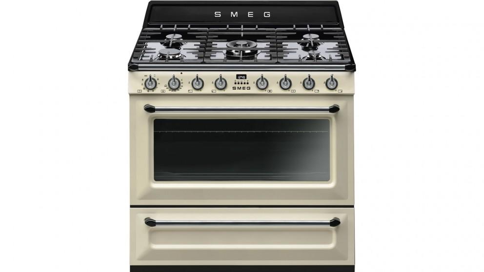 Smeg 900mm Victoria Collection Freestanding Cooker - Panna