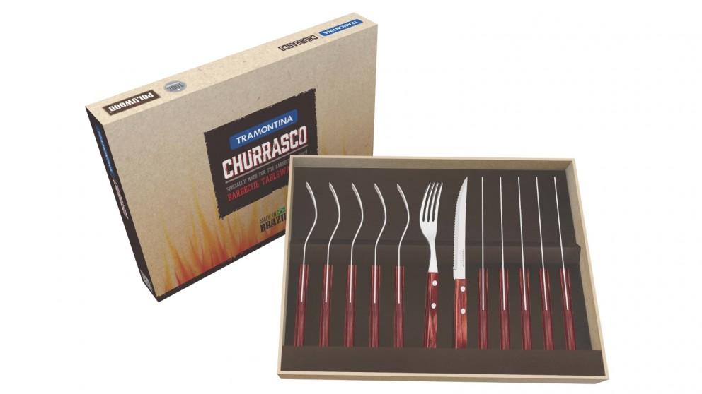 Tramontina Cutlery 12 Piece Steak Set - Red