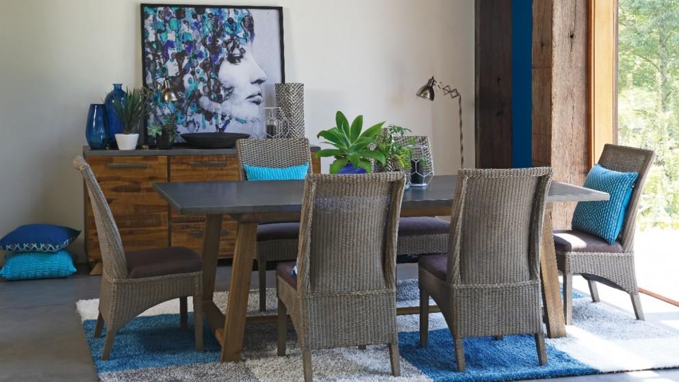 rocka 7 piece dining setting - dining furniture - dining room
