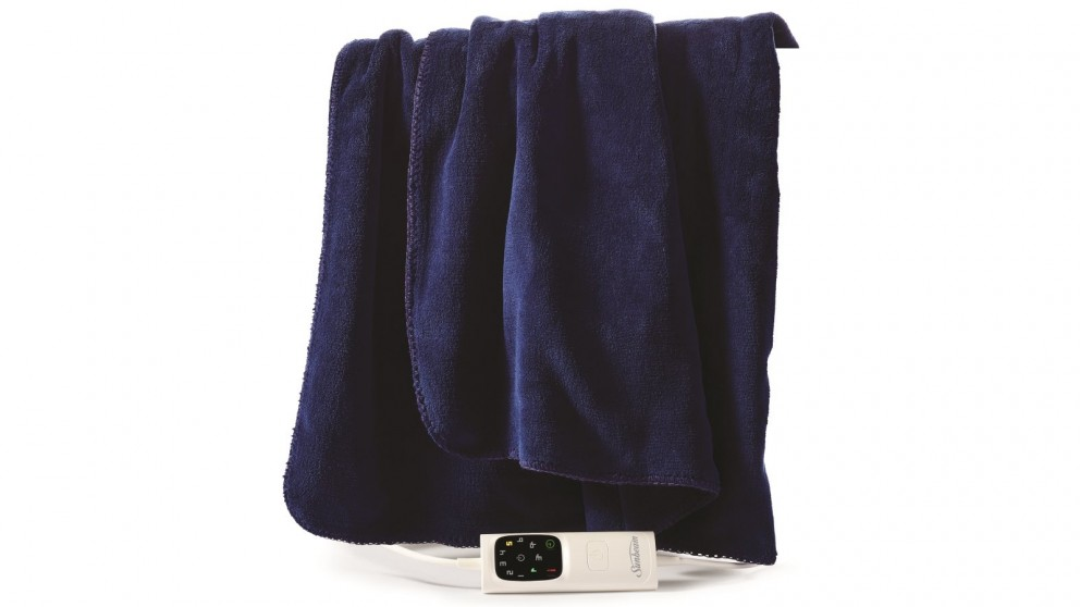 Sunbeam Feel Perfect Micro Plush Heated Throw - Royal Blue