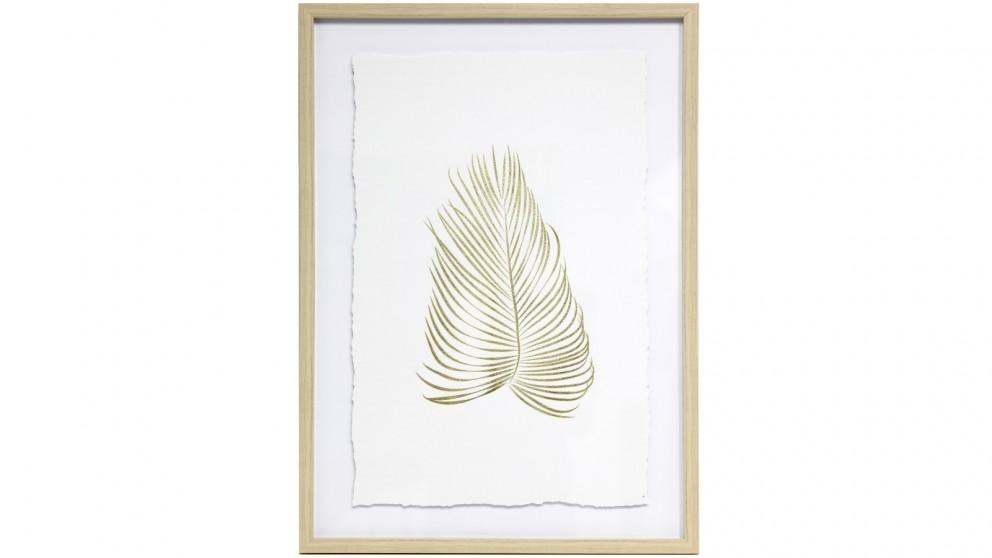 Splosh Tranquil Gold Leaf 44x64 Framed Canvas