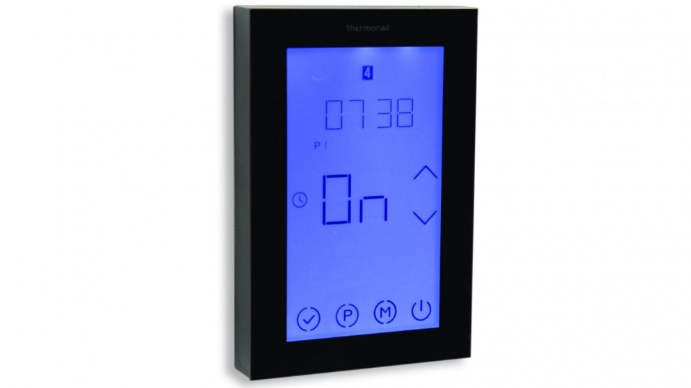 Thermogroup Thermorail Touch Screen 7 Day Timer - Black