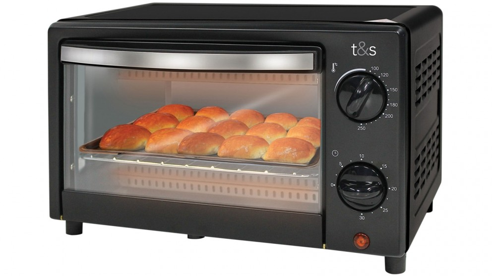Buy T Amp S Everyday 9l Toaster Oven Black Harvey Norman Au