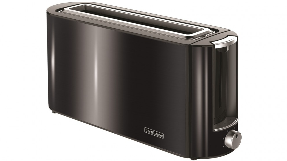 Trent and Steele Shadow Steele 2 Slice Long Slot Toaster - Black