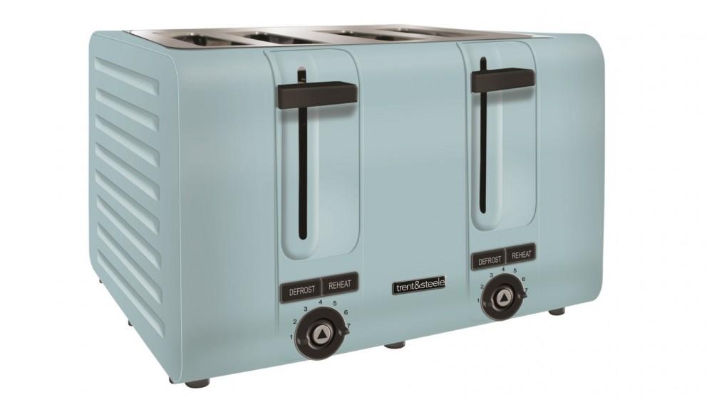 Trent and Steele 4 Slice Toaster - Blue